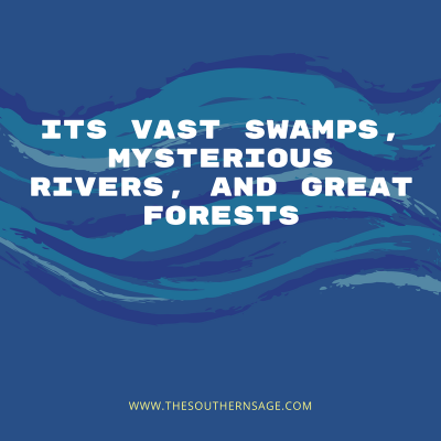 early everglades explorations. its vast swamps, mysterious rivers, great forests